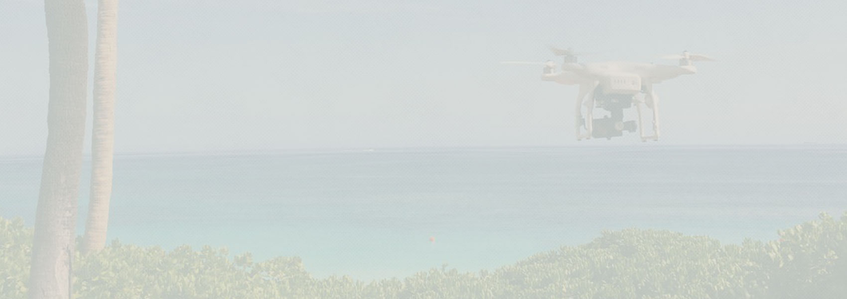 A drone doing photography of the ocean